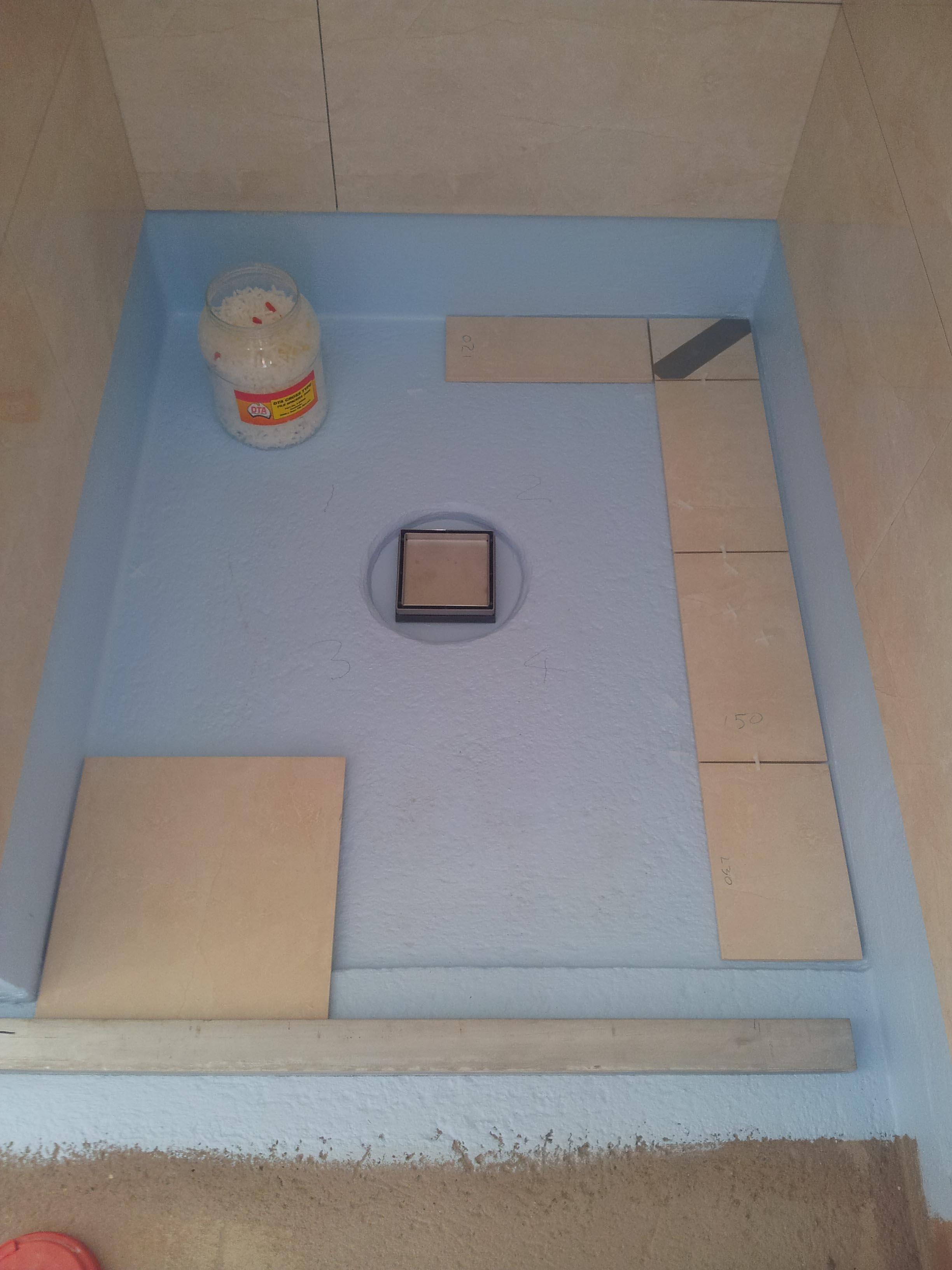 Screeding Bathroom Floor Hallmark Renovations Specialists In Bathroom Laundry